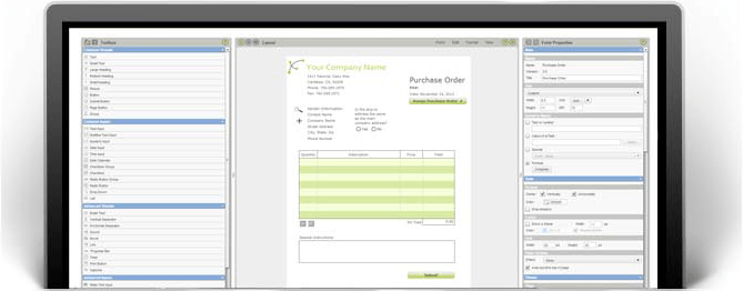 online purchase order form
