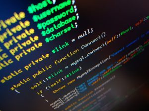 PHP code on a screen
